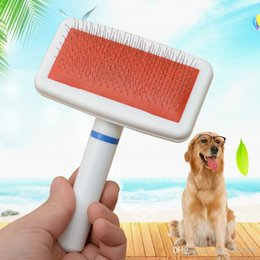 Safer Products Australia - Pet Dog Cat Grooming Cleaning Brushs Dog Cat Head Hair Lice Comb Pet Safe Flea Eggs Dirt Dust Remover DHL Free Shipping