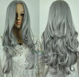 $enCountryForm.capitalKeyWord Australia - FREE SHIPPING + Long Body Wavy Hair Wig Cosplay Costume Grey Wig Harajuku for women wigs