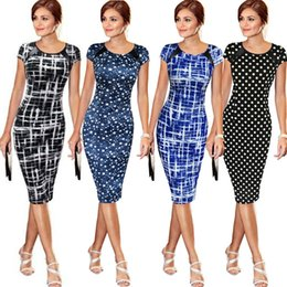 Wholesale mini tunic resale online – Elegant Women Office Business Work Party Sheath Tunic Pencil Mini Dress
