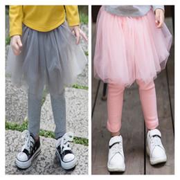 Lolita Leggings Australia - INS 2017 Autumn Girls Candy Color Gauze Cotton Skirt Pants Girls Leggings Tights Girl Baby Pants Kids Pantskirt Bottoms Free Shipping 145