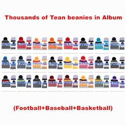 mens winter beanies Australia - Wholesale Baseball beanies Knitted hats All Team Football Sport Cap Womens Mens Winter Skull Beanie Pom Caps More 5000+Styles drop shippping