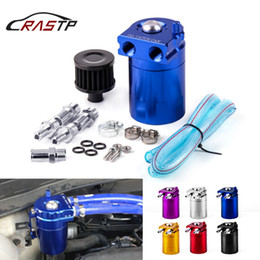 $enCountryForm.capitalKeyWord Australia - RASTP-Universal Blue Aluminum Alloy Reservior Oil Catch Can Fuel Tank with Mini Black Air Filter RS-OCC009