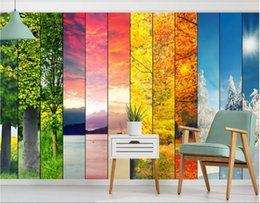 wall puzzle Australia - 3d wallpaper custom photo murals Fresh sunshine landscape background wall Nordic puzzle background wall home decor wall art pictures