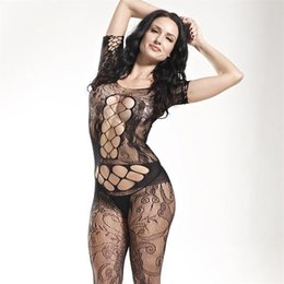 $enCountryForm.capitalKeyWord Australia - Women Body Stocking High Elasticity Sexy Open Crotch Net Bodysuit Hot Lingerie Jumpsuits sexy Lingerie Bodysuit Bodystocking drop ship