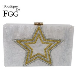 $enCountryForm.capitalKeyWord Australia - Boutique De FGG Glitter Star Pattern Women Acrylic Box Clutch Evening Purses and Handbags Ladies Fashion Chain Shoulder Bag