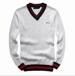 High Quality Embroidery Australia - Men's Leisure Sweaters luxurious embroidery sweater high quality sweaters long sleeve Pullover knitting sweater Solid color shirt Size M-2XL