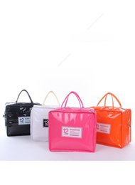 eco friendly ice packs UK - Korean Style lunch bag portable picnic bag large capacity PU Storage Bags waterproof insulation ice pack can be printed LOGO