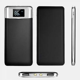 Vente en gros 20000 mAh Alimentation Banque Batterie Externe DualUSB Ports LCD Affichage Powerbank Portable Mobile Chargeur Rapide pour Téléphone