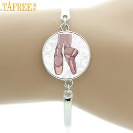 Dancer Bracelets Australia - TAFREE vintage Ballerina bracelet women elegant ballet dance dancing glass art bracelets fashion dancer jewelry gifts NS131