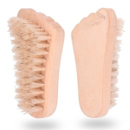 massage disposable UK - Foot Shape Massage Lightweight Cleaning Brush Wooden Handle Bath Practical Spa Other Bath Toilet Supplies