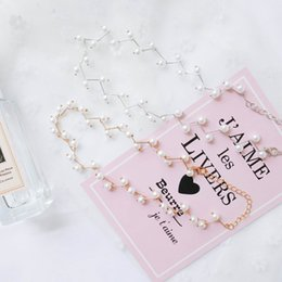 Ladies Neck Chains Australia - 2019 Fashion short pearl necklace ladies new clavicle chain accessories neck chain