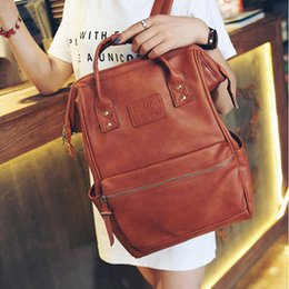 Discount hot pink computer - New Arrival school bag Fashion PU leather Bags Hot Punk style Men Backpack designer travel bag PU Leather computer Bags