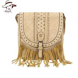 $enCountryForm.capitalKeyWord Australia - 2019 New Fashion Women PU Leather Vintage Tassel Messenger Bag High Quality Hollow Out Shoulder Bag Simple Crossbody Tote