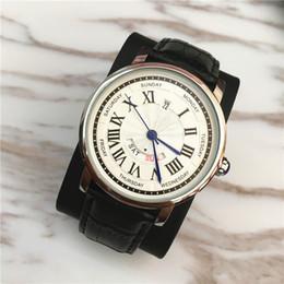 shipp dresses 2019 - Big Dial Auto-date Luxury Top Fashion Brand Man Watches Dress Watch black brown Classic Quartz Watch Sport Leather Wrist