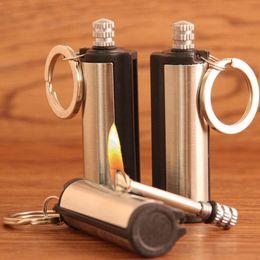 GloryStar 5.5X1.9Cm нержавеющей стали Fire Starter Флинт Совпадение Зажигалка лазания брелок Кемпинг Emergency Survival трансмиссионные на Распродаже