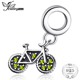$enCountryForm.capitalKeyWord Australia - JewelryPalace 925 Sterling Silver Yellow Cubic Zirconia Bicycle Dangle Charm For Your Lover As Beautiful Gifts New Hot Sale