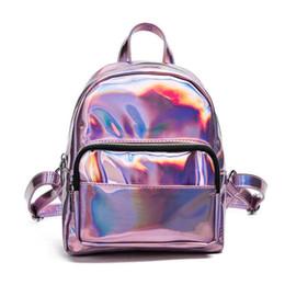 $enCountryForm.capitalKeyWord NZ - good quality 2019 New Women Backpack Zipper Pu Leather Backpack Solid Color Hologram Laser Women School Laptop Backpack
