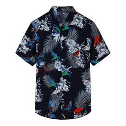83d0a2bc865e Plus Size M-7XL Men s Shirt 2019 Summer New Short Sleeve Tropical Flower  Printed Man Casual Holiday Beach Hawaii Shirts