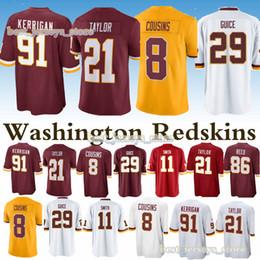 Washington jerseys Redskins 21 Sean Taylor 91 Ryan Kerrigan 11 Alex Smith  29 Derrius Guice 8 Kirk Cousins new jersey 2019 5836cd738