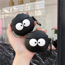 earphones cover Australia - For Apple AirPods Case 3D Cute Cartoon Funny Taiji Train Dragon Black Coal Ball Wireless Earphone Earpods Cover for Airpods 2