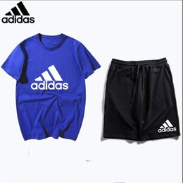 Tutu Casual Australia - 2019 Summer Casual And Fashion T- Shirts Suit Men Breathable Tracksuits TShirt and Shorts Set Men Clothing+Pant Sportwear Set For Men