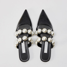 $enCountryForm.capitalKeyWord Australia - Luxury 2019 Genuine Leather Brand Summer Shoes Slip On Large Size Sandals Slides Outside Slippers Casual Beads Mules Women Lady