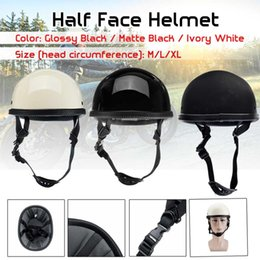 $enCountryForm.capitalKeyWord Australia - Dot Motorcycle German Style Half Face Helmet Motocross Chopper Biker M L XL