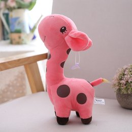 funny birthday cartoons NZ - 2019 New Kawaii Plush Giraffe Stuffed Animal Cartoon Doll Soft Plush Toy Outdoor Game Funny for Kid Baby Birthday Gift Toy18*8CM