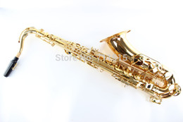 BB tenor saxophone online shopping - Unbranded Gold Lacquer Students Musical Instrument Bb Tenor Saxophone Professional B Flat Sax Quality Brass Saxophone Falling Tune B C