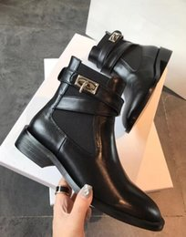 buckles studs boots NZ - Hot Sale-Black Rivets Studs Womens Leather Ankle Boots Runway Woman Spikes Short Motorcycle Booties Buckle Strap Casual Punk Wedges Shoes