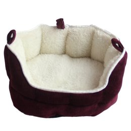hamster beds UK - Soft Suede Small Pet Nest Warm And Comfortable Breathable Hedgehog Squirrel Hamster Bed Wolf Guinea Pig Bed