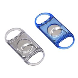 $enCountryForm.capitalKeyWord NZ - Free Express Clear Plastic Guillotine Double Blade Cigar Cutter 50 Ring Metal Sliver Plated Clipper Port Cuban Cigar Cutter Knife Scissor