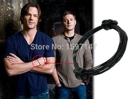 $enCountryForm.capitalKeyWord UK - Movie Supernatural Inspired Dean Winchester Elephant Hair Bracelet (Leather) Jewelry For Men Gifts