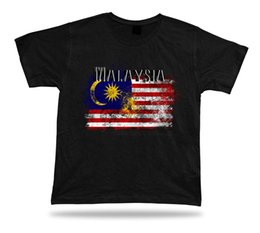 Cotton City T Shirts Australia - Malaysia flag Tshirt T-shirt Tee top city map escutcheon motto wonderful gift 2018 New Leisure Fashion t-Shirt men cotton short sleeves