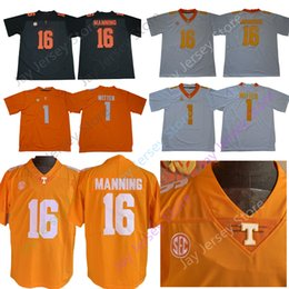 peyton jerseys UK - NCAA Tennessee Volunteers Football Jersey College 1 Jason Witten 16 Peyton Manning Home Away Orange White Men Size S-3XL