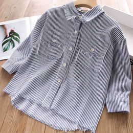 $enCountryForm.capitalKeyWord Australia - girls shirt tassels long sleeve kids shirt kids designer clothes girls fall clothes Tee Shirts kids clothes A6949