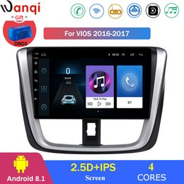 android for multimedia car Canada - For vios 2016-2017 Car Radio Multimedia Video Player Navigation GPS Android 8.1 Accessorie SWC BT WIFI Sedan No dvd car dvd
