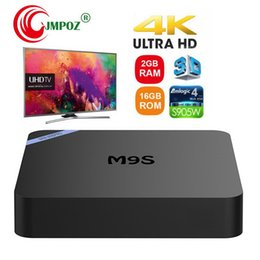 Uhd Tv Box Australia - M9S PRO Android 7.1 Amlogic S905W Quad Core TV BOX 2GB 16GB 1GB 8GB Suppot H.265 UHD 4K 2.4GHz WiFi Set-top box