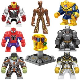 spider man glove NZ - Super Hero Toy Action Figure Avengers Infinity Gauntlet Thanos Energy Stone Gloves Iron Man Hulk Black Pather Spider Man Building Block