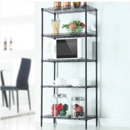 shelve stand 2019 - sales 2019 Free shipping Widen Widen Changeable Assembly Floor Standing Carbon Steel Storage Rack Black cheap shelve sta