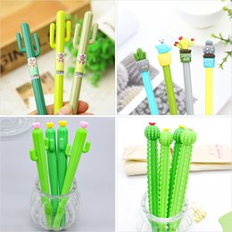 Office School Cute Pens Australia - Cactus Gel Pens Green Plants Neutral Pen Cute Pens For School Office Writing Supplies Gifts Stationery Promotional