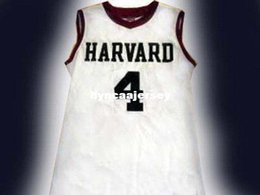 df53c85cb3d Cheap Mens JEREMY LIN HARVARD JERSEY CHINESE AMERICAN WHITE NEW ANY SIZE XS  - 5XL Retro Basketball Jerseys NCAA College