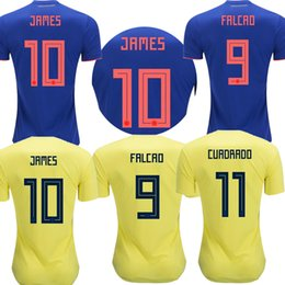 de19bfa2f Sanchez Football Shirt UK - 2018 Colombia Soccer Jerseys 2019 home away  Jersey JAMES FALCAO CUADRADO