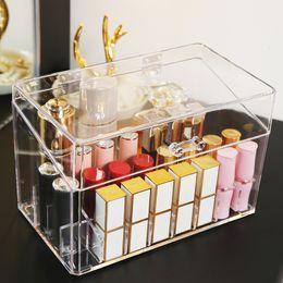 Acrylic mAkeup storAge boxes online shopping - 24 Grid Acrylic Makeup Organizer Storage Box Cosmetic Box Lipstick Jewelry Box Case Holder Display Stand makeup organizer