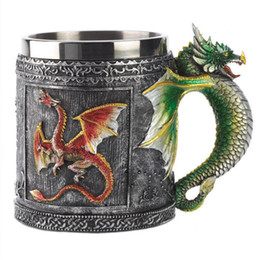 game cups Australia - Game of Thrones Dragon Stainless Steel Cup Bottle Mug Beer Wine Drinking Cup Party Home Drinkware