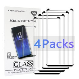 $enCountryForm.capitalKeyWord Australia - 4 Pack Case Friendly Small For Samsung Galaxy Note 10 9 8 S9 S8 S7 S6 Edge Plus Tempered Glass 3D Curve 2.5D HD Clear Screen Protector