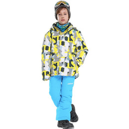 $enCountryForm.capitalKeyWord Australia - Dollplus New Kids Winter Sport Suits for Boys Children Clothing Skiing Jacket and Pant Snow Suit Hooded Waterproof Boy Ski Suit