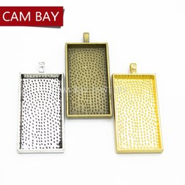 Silver Plated Frames Charms Wholesale Australia - 20 pcs Rectangular photo frame Charms Metal Pendant Diy Jewelry Handmade Accessories 60*28mm C24