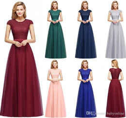 bridesmaid dress designs sleeves Australia - 2020 New Designed Cheap Bridesmaid Dress A Line Cap Sleeve Jewel Neck Appliqued Long Wedding Evening Prom Dress Mother Dress CPS1132