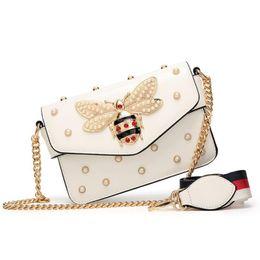 $enCountryForm.capitalKeyWord NZ - New Famous Brand Women Messenger Bags Black Small Chain Crossbody Bags Female Luxury Shoulder Bag Pearl Handbag 2019 Red White J190612